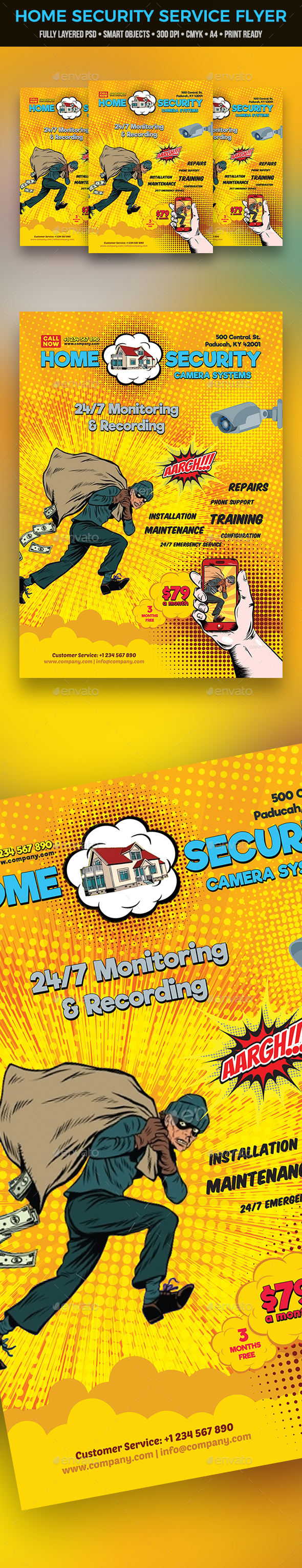 Home Security Service Flyer - Commerce Flyers
