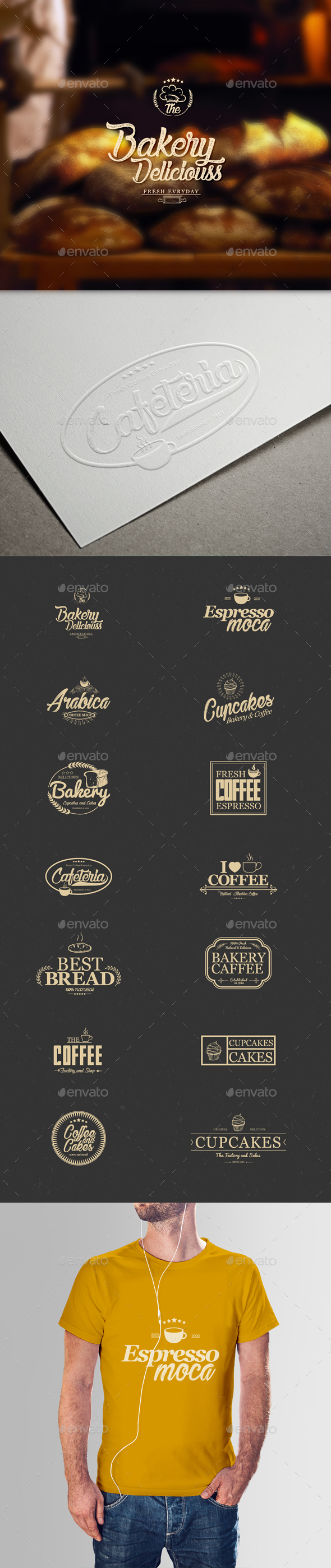 GraphicRiver Coffee and Bakery Badges 20710560