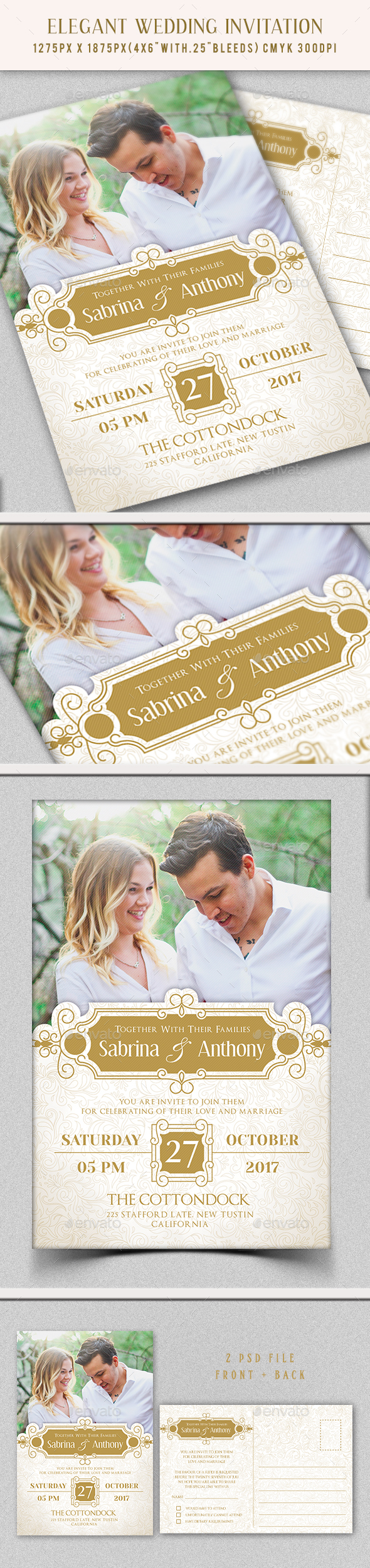 GraphicRiver Wedding Invitation 20710648
