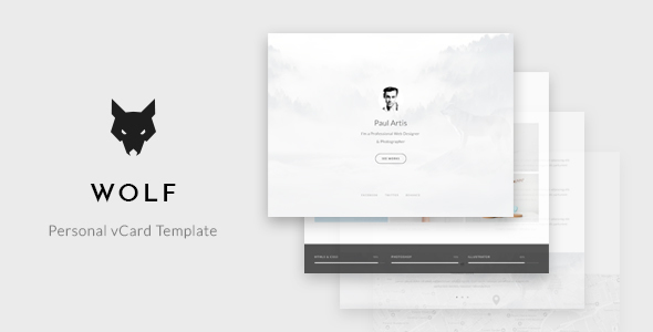 Wolf - Personal vCard Template