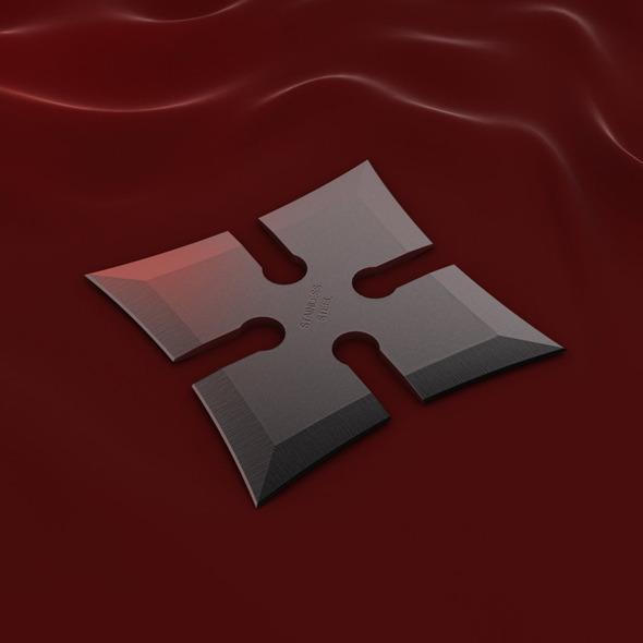 4 Point Shuriken (Wide Edge) - 3DOcean Item for Sale
