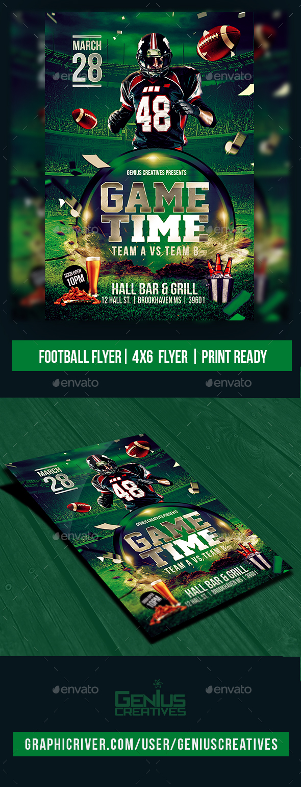 GraphicRiver Football Game Flyer Template 20710828