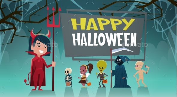 GraphicRiver Happy Halloween Banner 20710889