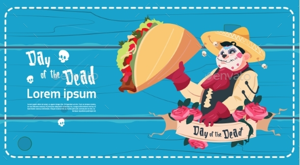 Day of Dead Traditional Mexican Halloween Holiday - Miscellaneous Vectors