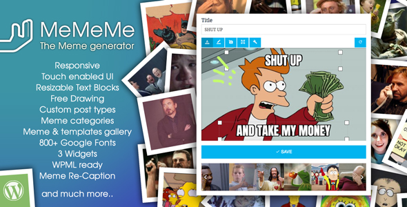 MeMeMe - Ultimate Meme Generator | WP Plugin - CodeCanyon Item for Sale