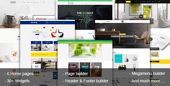 ThemeForest SeeShop Page Builder & Flexible Store Prestashop Theme 20556680