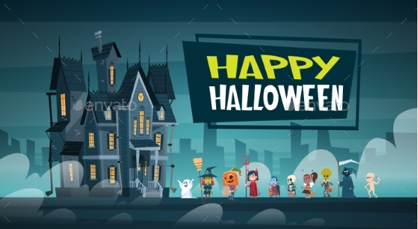 Happy Halloween Banner - Halloween Seasons/Holidays