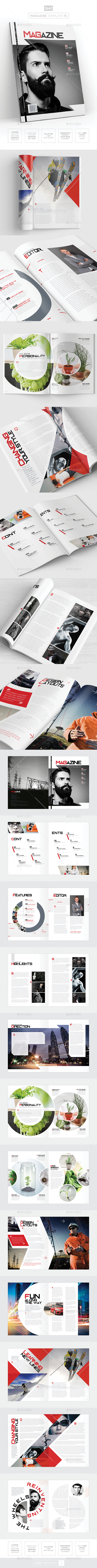 Magazine Template - InDesign 24 Page Layout V15 - Magazines Print Templates