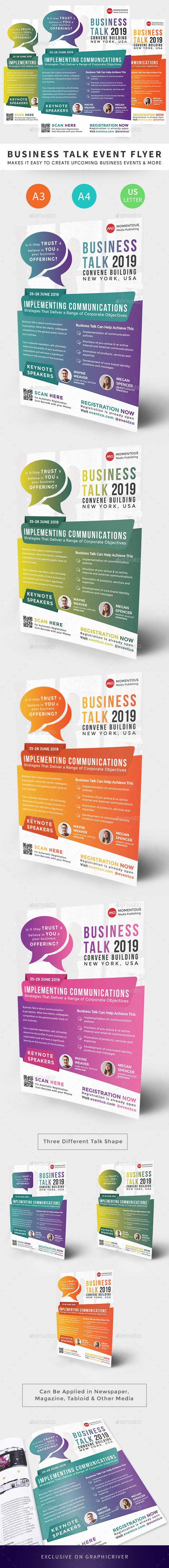 Business Talk Event Flyer - Corporate Flyers