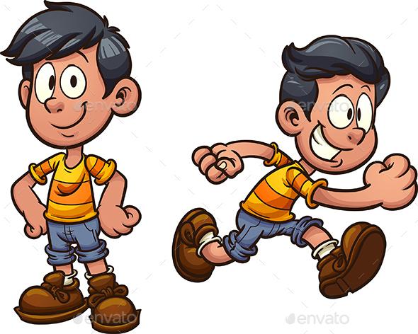 GraphicRiver Cartoon Boy 20711305