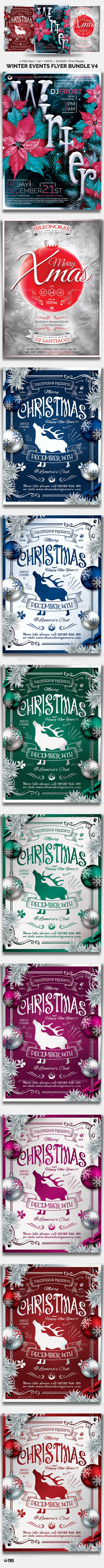 Winter Events Flyer Bundle V4 - Holidays Events