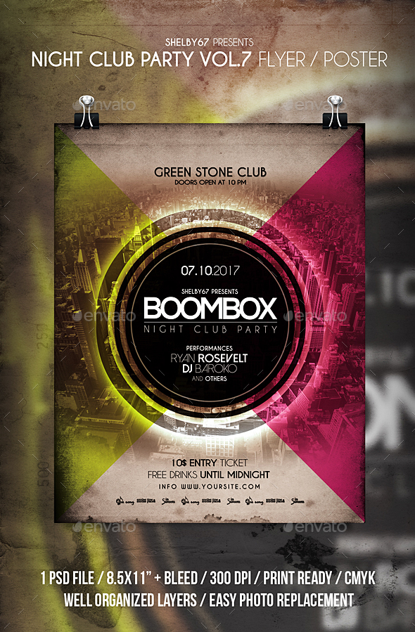 Night Club Party Flyer / Poster Vol 7 - Clubs & Parties Events