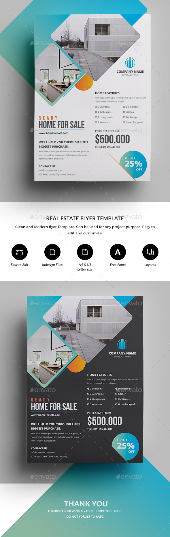 GraphicRiver Real Estate Flyer 20711422