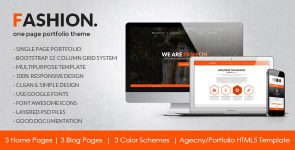 Fashion - Agency/Personal Portfolio HTML5 Template - Portfolio Creative