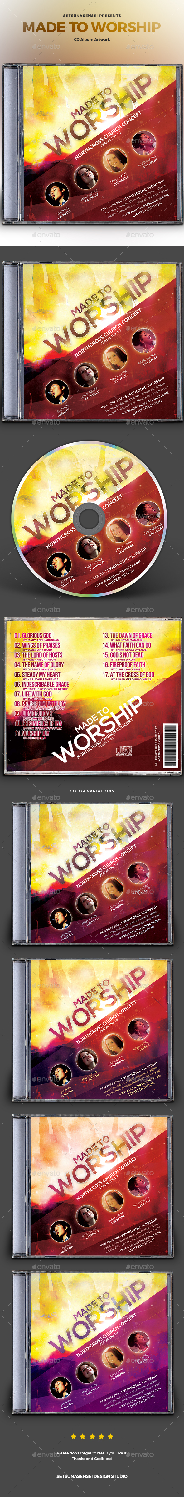 Made to Worship CD Album Artwork - CD & DVD Artwork Print Templates