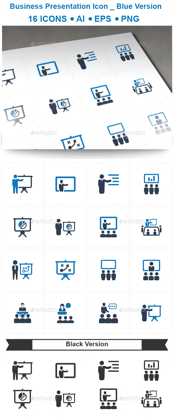 GraphicRiver Business Presentation Icons 20711656