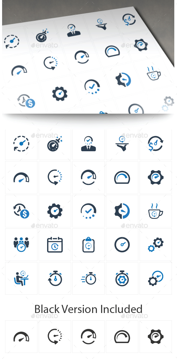 GraphicRiver Business Time Management Icons 20711732