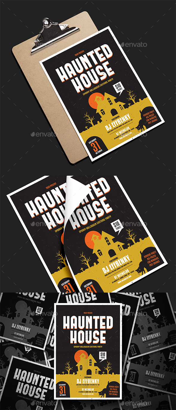 GraphicRiver Haunted House Party Flyer 20711763