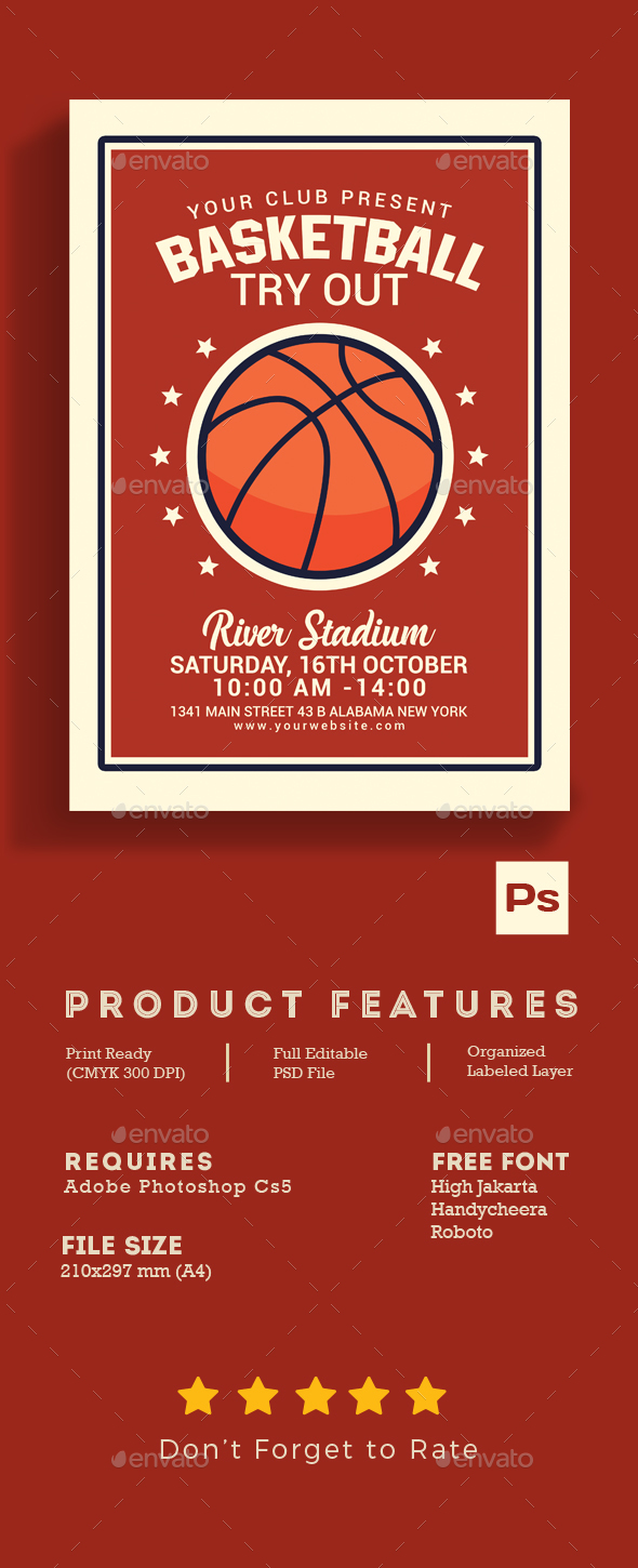 GraphicRiver Basketball Tryout Flyer 20711777