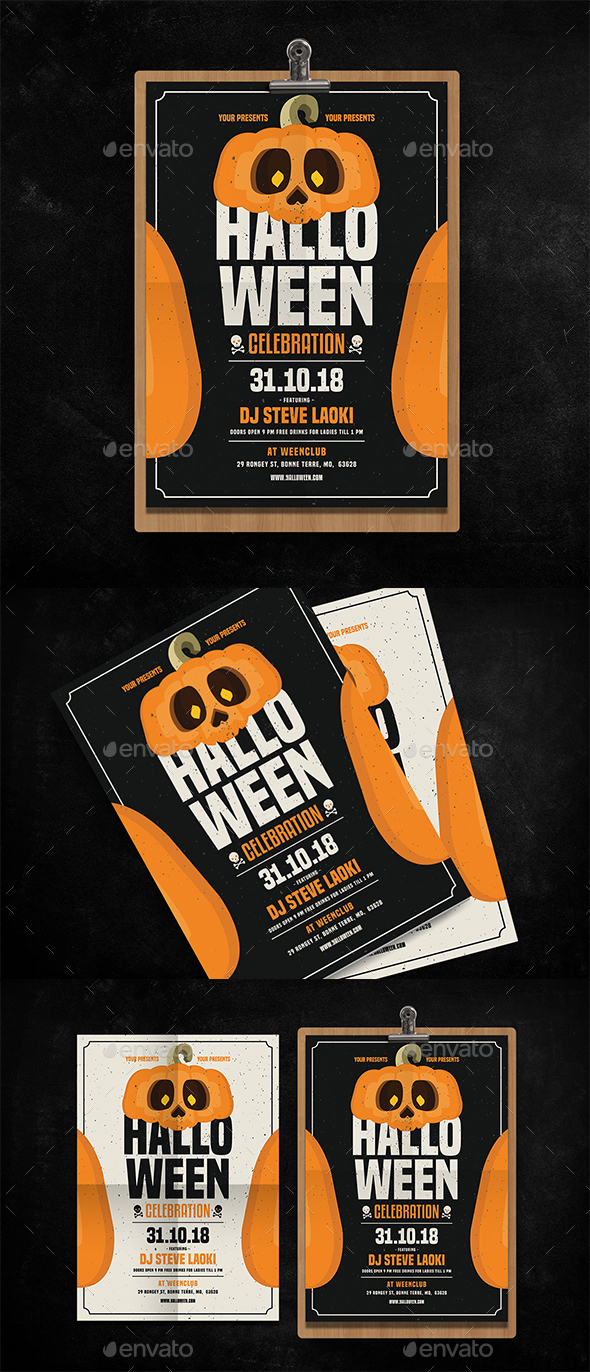 Halloween Celebration Flyer - Events Flyers