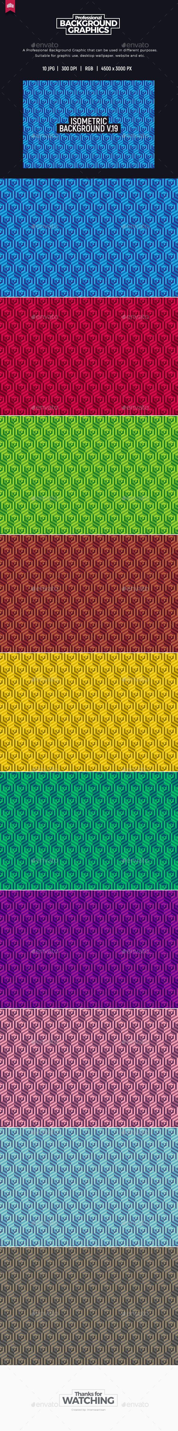 Isometric Background V.19 - Patterns Backgrounds
