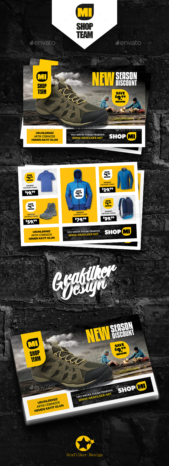 Shopping Product Postcard Templates - Cards & Invites Print Templates
