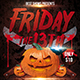 Horror Friday 13th Flyer - GraphicRiver Item for Sale