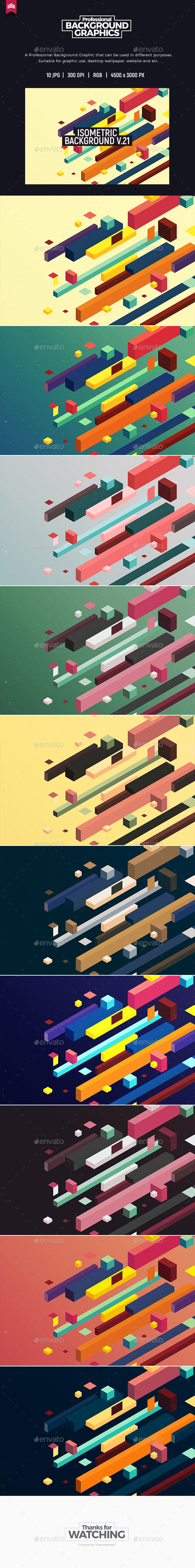Isometric Background V.21 - Patterns Backgrounds
