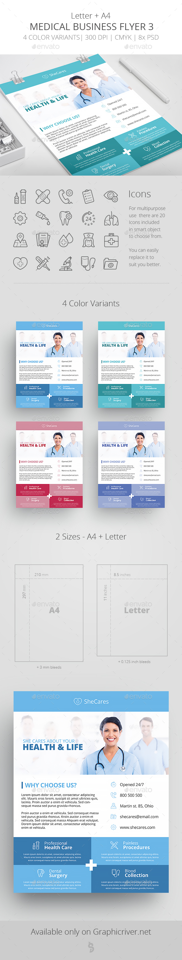 Medical Business Flyer Template 3 - Corporate Flyers