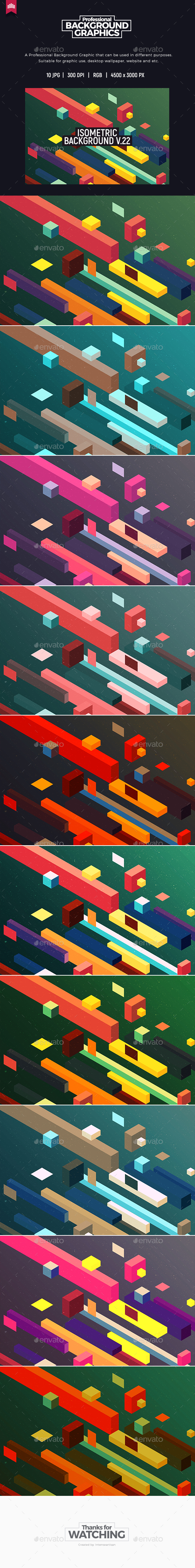Isometric Background V.22 - Patterns Backgrounds