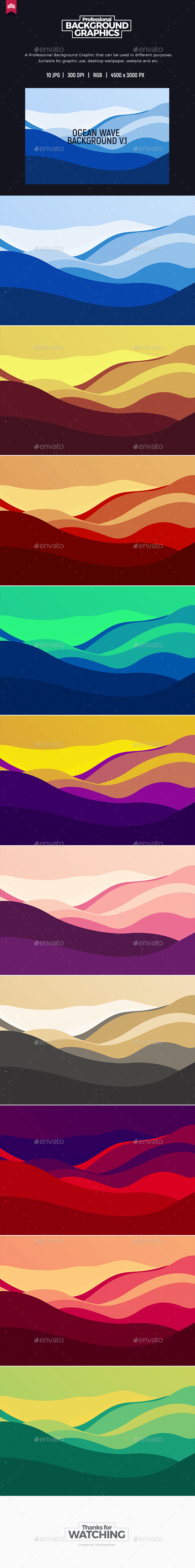 GraphicRiver Ocean Wave Background 20712051