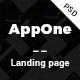 AppOne app Landing page PSD Template - ThemeForest Item for Sale