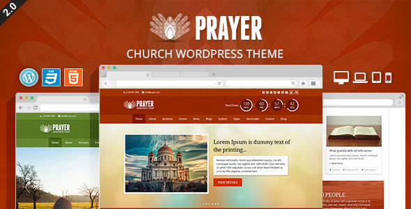 Prayer - Church Responsive WordPress Theme
