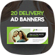 ONDelivery - Delivery Ad Banners Set - GraphicRiver Item for Sale