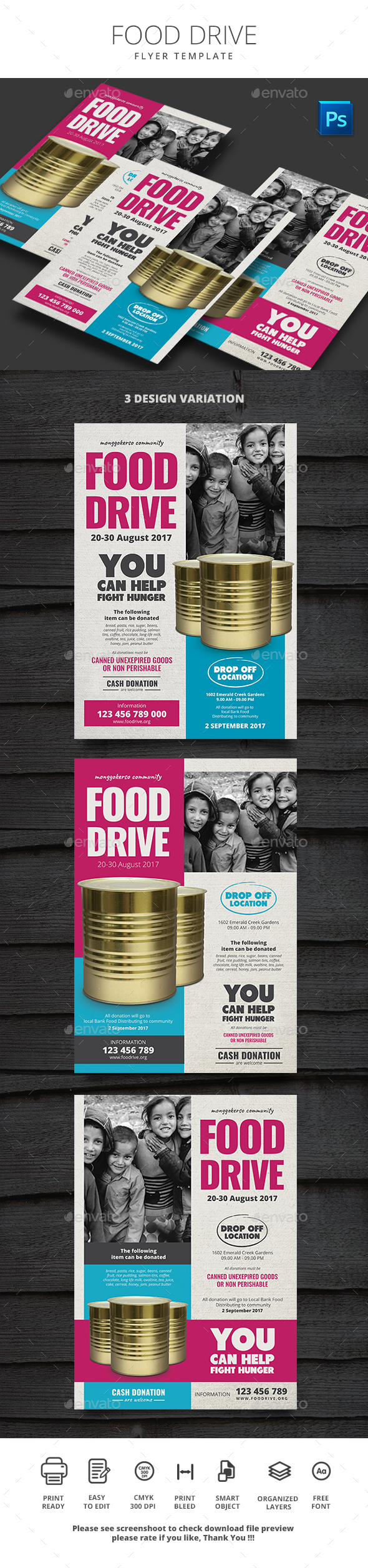 Free Printable Food Drive Flyer Template 187 Tinkytyler Org
