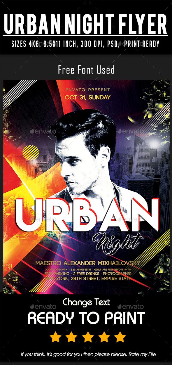 Urban Night Flyer - Events Flyers