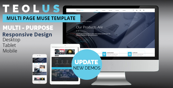 TEOLUS Multi-Purpose  Muse Template - Corporate Muse Templates