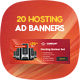 20 Hosting Banner Set - GraphicRiver Item for Sale