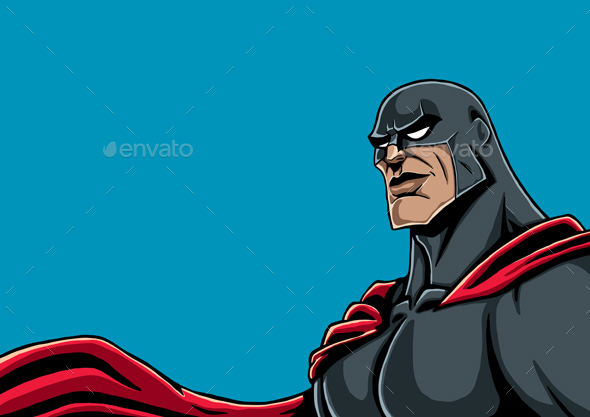 GraphicRiver Superhero Portrait Black 20712379