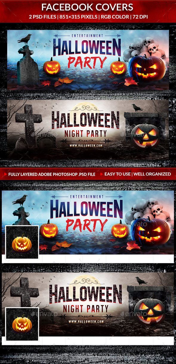 Halloween Party Facebook Covers - Facebook Timeline Covers Social Media