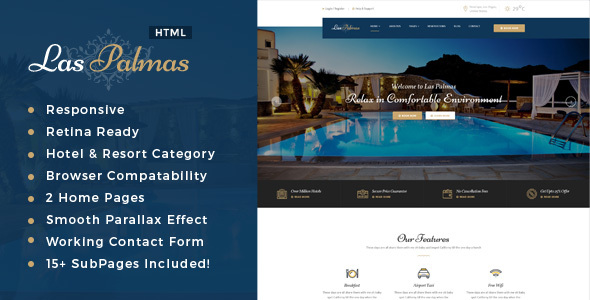Image of Las Palmas | Hotel and Resort HTML5 Template