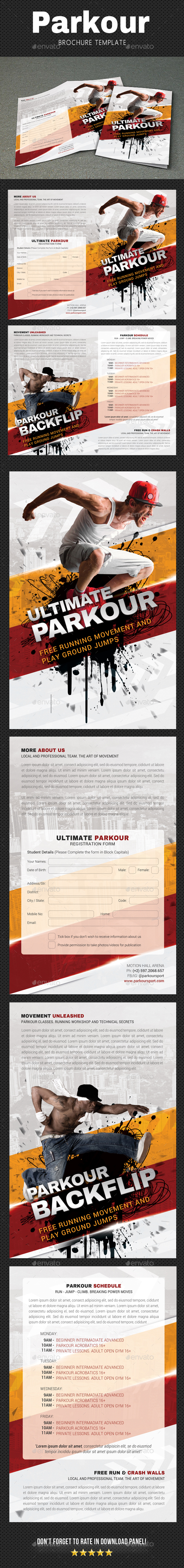 GraphicRiver Parkour Brochure 20705398