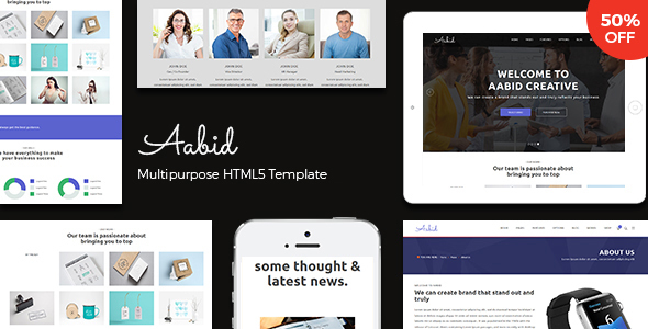 Powerful Multipurpose HTML5 Website Template — Aabid - Site Templates