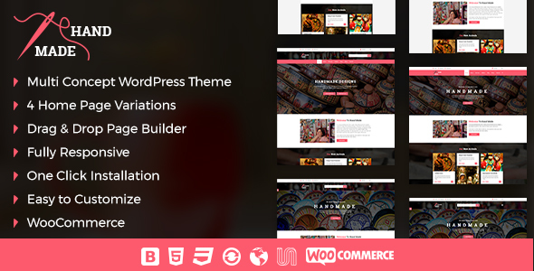 Handmade Product Shop  WordPress Theme - eCommerce WordPress