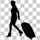 Silhouette of a Woman With Suitcase