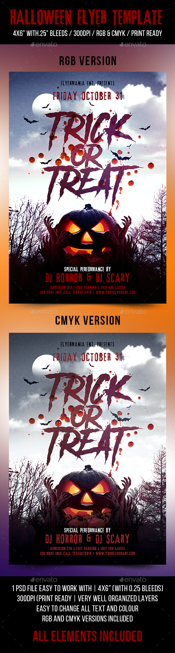 Halloween Flyer Template - Flyers Print Templates
