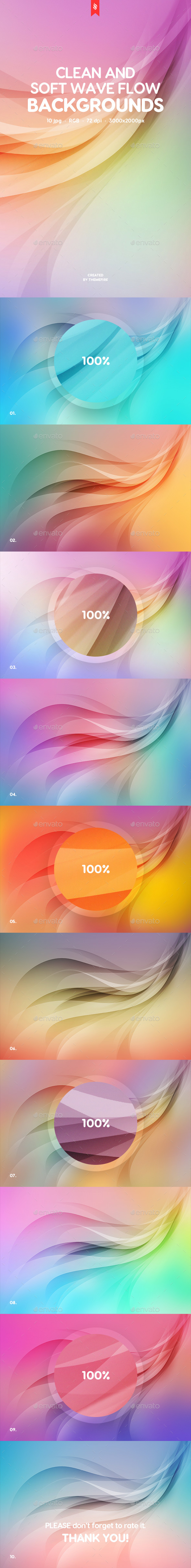 GraphicRiver Soft Wave Flow Backgrounds 20714005