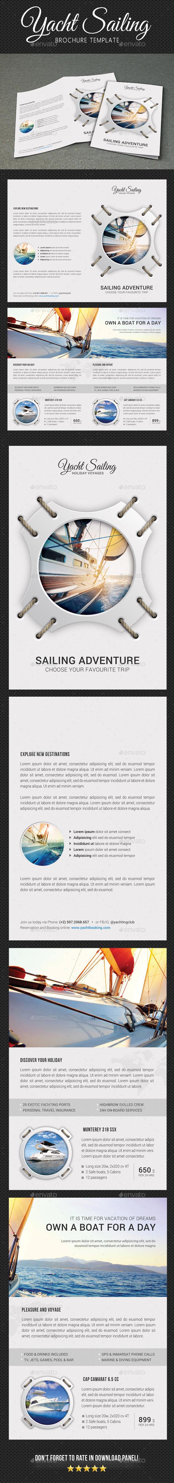 Yachting Brochure 5 - Brochures Print Templates