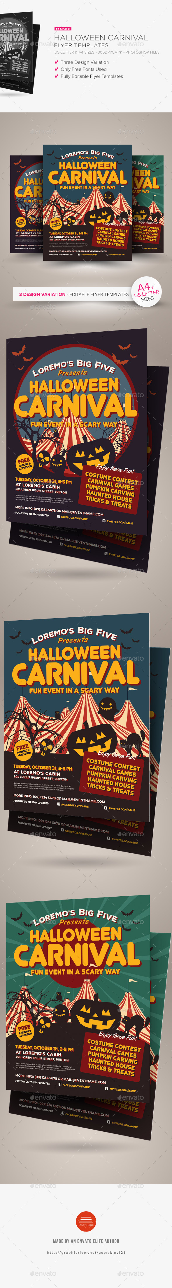 Halloween Carnival Flyer Templates - Holidays Events