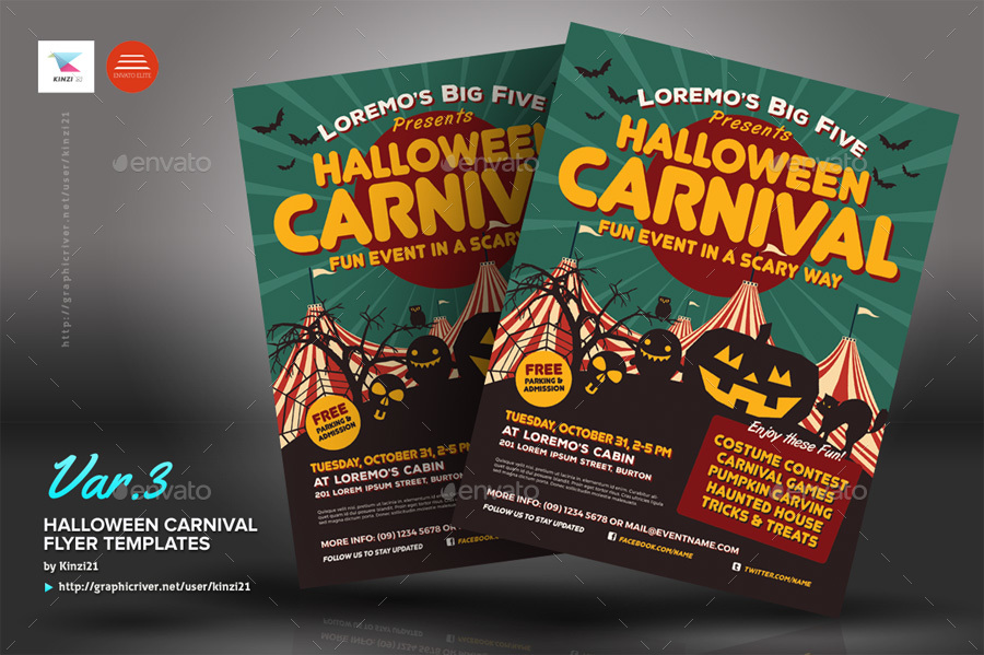 carnival flyers templates